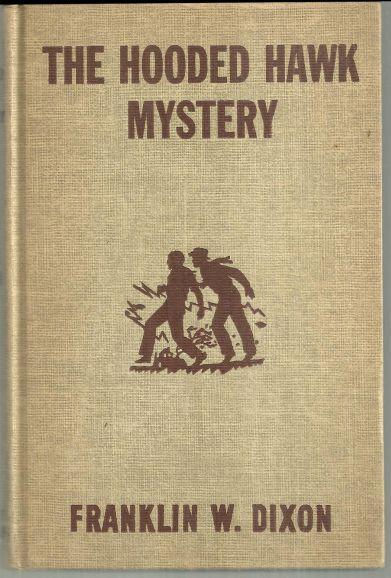 Hooded Hawk Mystery by Franklin Dixon Hardy Boys #34 Brown Tweed Cover 1954