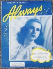 Always Sung by Deanna Durbin in Christmas Holiday 1925