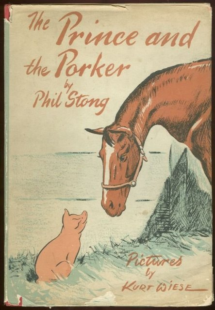 Prince and the Porker by Phil Strong 1st ed with DJ