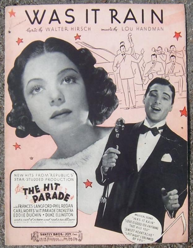 Was It Rain From The Hit Parade with Frances Langford Phil Regan 1937 Music