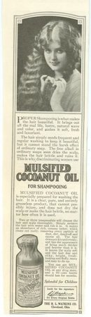 Mulsified Cocoanut Oil Shampoo 1915 Advertisement