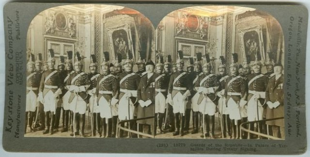 Guards of the Republic Versailles Stereoview Card