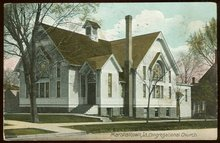 Congregational Church, Marshalltown, Iowa 1911 Postcard