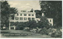 Potscard of Boxwood Manor Gardens, Old Lyme Connecticut