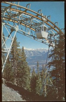 Postcard of Banff Sulphur Mountain Gondola Lift