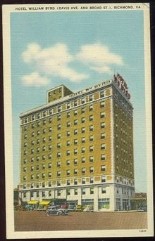 Postcard of Hotel William Byrd, Richmond, Virginia