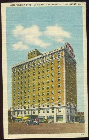 Postcard of Hotel William Byrd, Richmond, Virginia