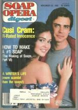 Soap Opera Digest Magazine November 23, 1982 Cusi Cram and Jeff Fahey OLTL Cover