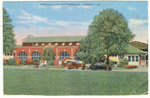 Postcard of Service Club Fort Benning, Georgia