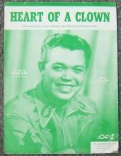 Heart of a Clown Recorded by Wade Ray 1952 Sheet Music