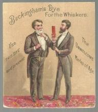 Victorian Trade Card for Buckingham's Dye for the Whiskers with Two Men