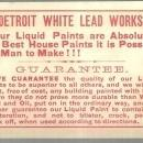 Victorian Trade Card for Detroit White Lead Works with Artist's Paint Palette