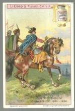 Victorian Trade Card Liebig  Fleisch-Extra with Johann Sobieski
