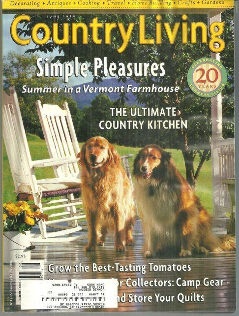 Country Living Magazine June 1998 Simple Pleasures in Vermont