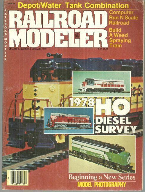 Railroad Modeler Magazine January 1978 HO Survey and Big Tujunga's Tiny Depot