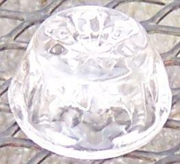 Barreled Thumbprint Open Individual Salt Clear
