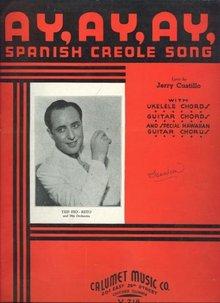 Ay,Ay,Ay Spanish Creole Song Ted Fio-Rita Orchestra