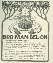 Bromangelon Dessert Jelly 1901 Magazine Advertisement