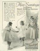 Miss Saratoga Garments 1921 Magazine Advertisement