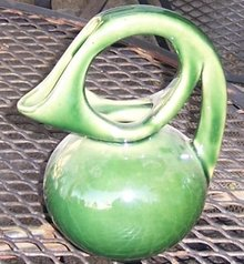 Dryden Modern Design Green Pitcher With Large Handle