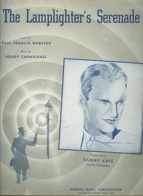 Lamplighter's Serenade featured by Sammy Kaye 1942 Sheet Music
