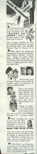 1943 World War II Paramount Magazine Advertisement