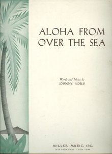 Aloha From the Sea by Johnny Noble 1940 Sheet Music