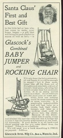 Glassock Baby Jumper Rocking Chair 1901 Magazine Ad