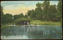 Boat House, Mitchell Park, Milwaukee, Wisconsin 1909 Postcard