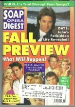 Soap Opera Digest Magazine September 13, 1994 Fall Preview and Robin Mattson