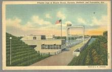 Postcard Wheeler Dam at Muscle Shoals Florence Sheffield and Tuscumbia Alabama