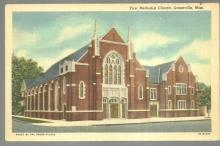 Vintage Unused Postcard of First Methodist Church, Greenville, Mississippi