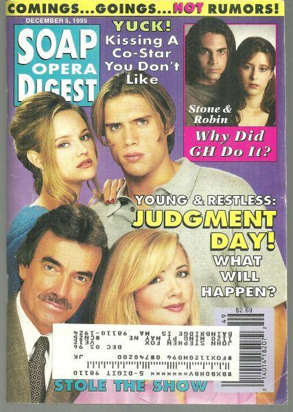 Soap Opera Digest Magazine December 5, 1995 Young and Restless Judgment Day