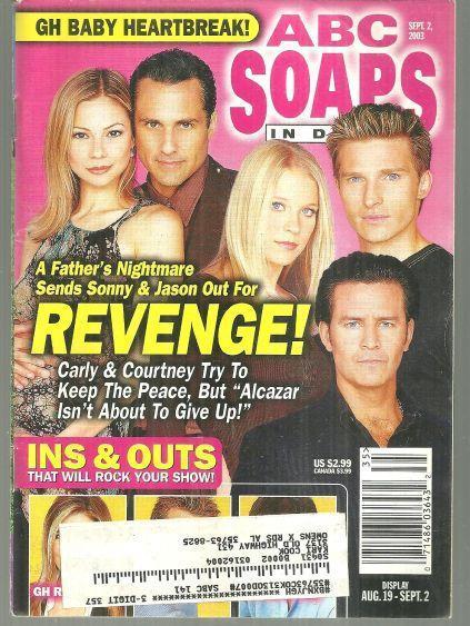 ABC Soaps in Depth September 2, 2003 General Hospital Revenge On Cover