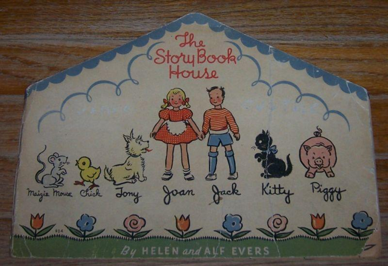 Story Book House by Helen and Alf Evers 1936 Vintage Picture Shape Book