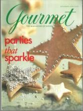 Gourmet Magazine December 2000 Parties That Sparkle on the cover