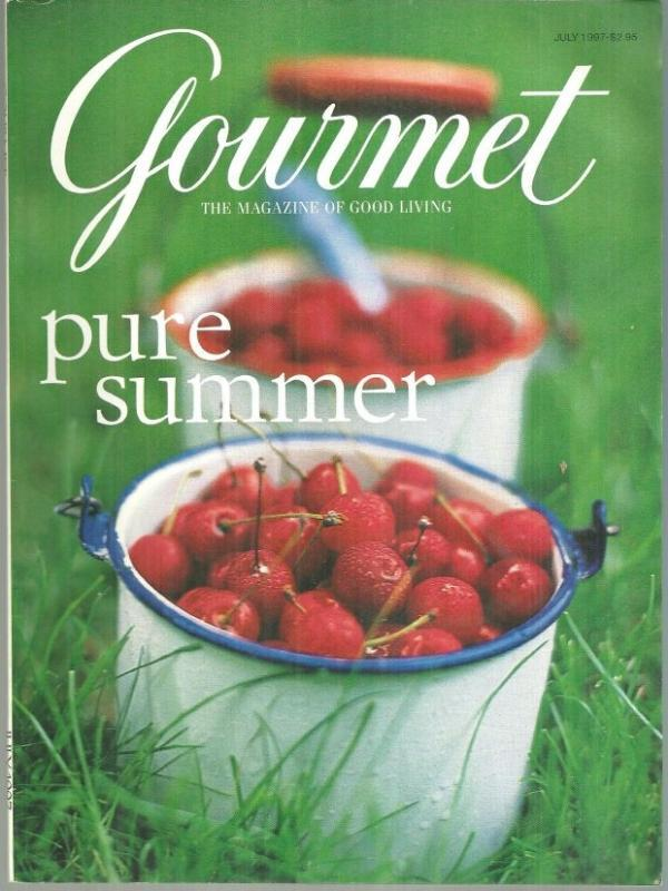 Gourmet Magazine July 1997 Summer Cherries on Cover