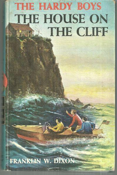 House on the Cliff by Franklin Dixon Hardy Boys #2 Matte Blue Brown Ends  1959