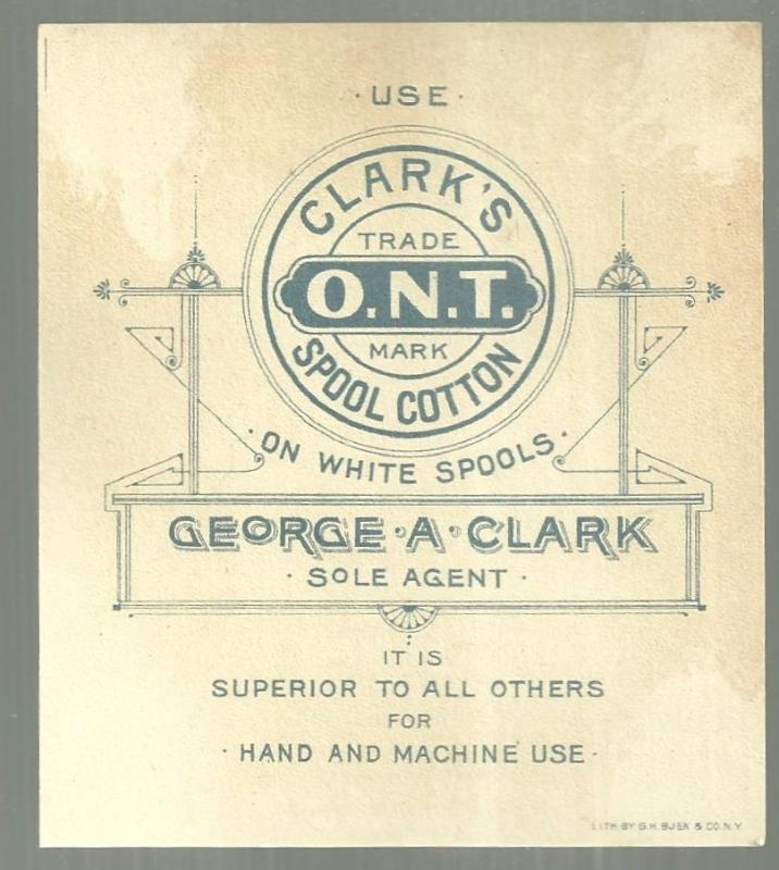 Victorian Trade Card for Clark's Spool Cotton The Cliffs on Green River CO