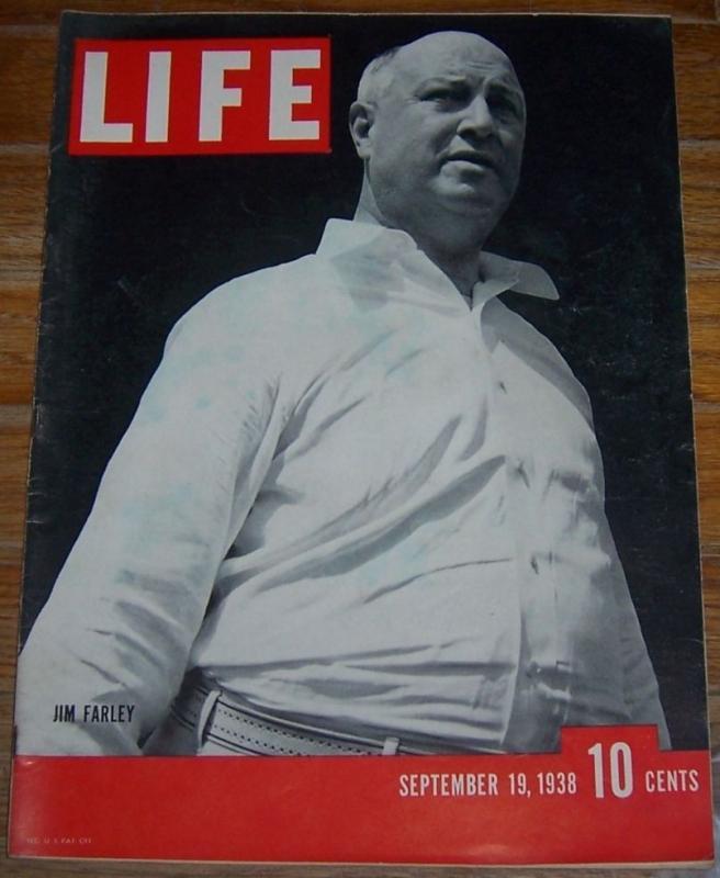 Life Magazine September 19, 1938 Jim Farleyon cover/Ann Gutkin/Frank Capra