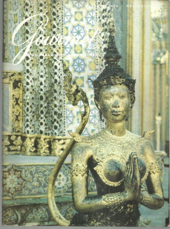 Gourmet Magazine October 1978 Royal Chapel of the Emerald Buddha in Bangkok