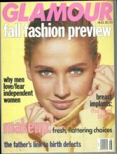 Glamour Magazine August 1991 Fall Fashion Preview/Annette Bening/Beer