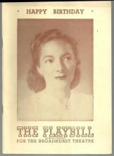Playbill Happy Birthday November 1947 Starring Helen Hayes and Louis Jean Heydt