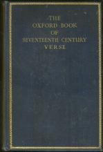 Oxford Book of Seventeenth Century Verse Edited by H. J. C. Grierson 1938