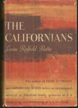 Californias by Louise Redfield Peattie 1940 1st Edition with DJ Historical Novel