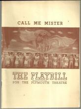 Playbill Call Me Mister November 1947 Starring Jane Kean with Carl Reiner