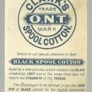 Victorian Die Cut Trade Card for Clark's Spool Cotton With Children Playing