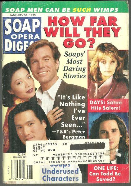Soap Opera Digest Magazine January 31, 1995 How Far Will They Go on Cover