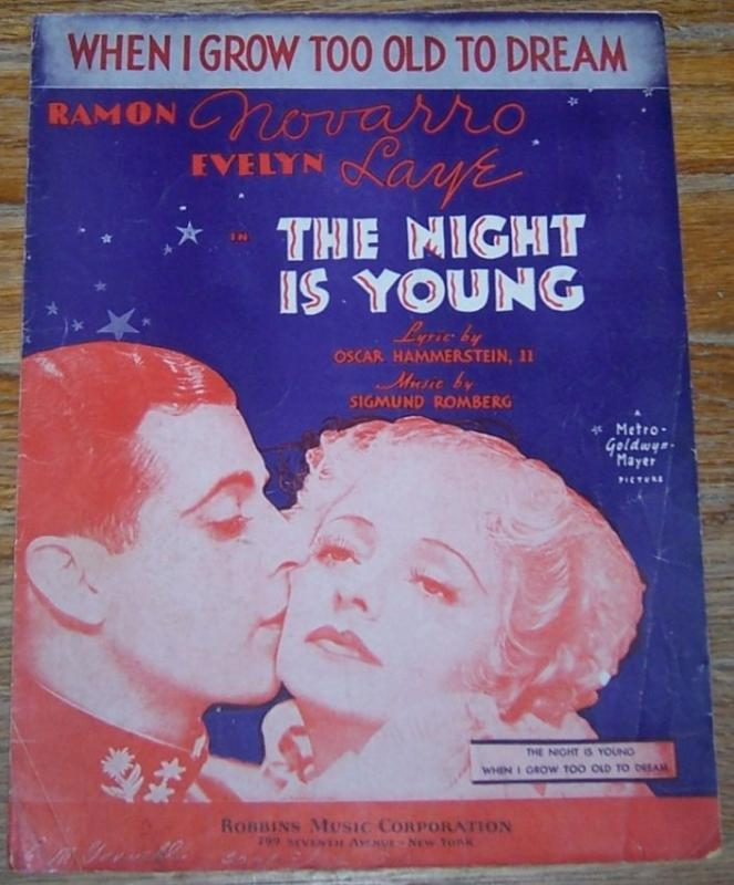 When I Grow Too Old to Dream From The Night is Young starring Ramon Novarro 1935