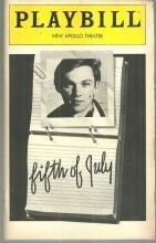 Playbill for Fifth of July August 1981 Starring Richard Thomas and Swoosie Kurtz